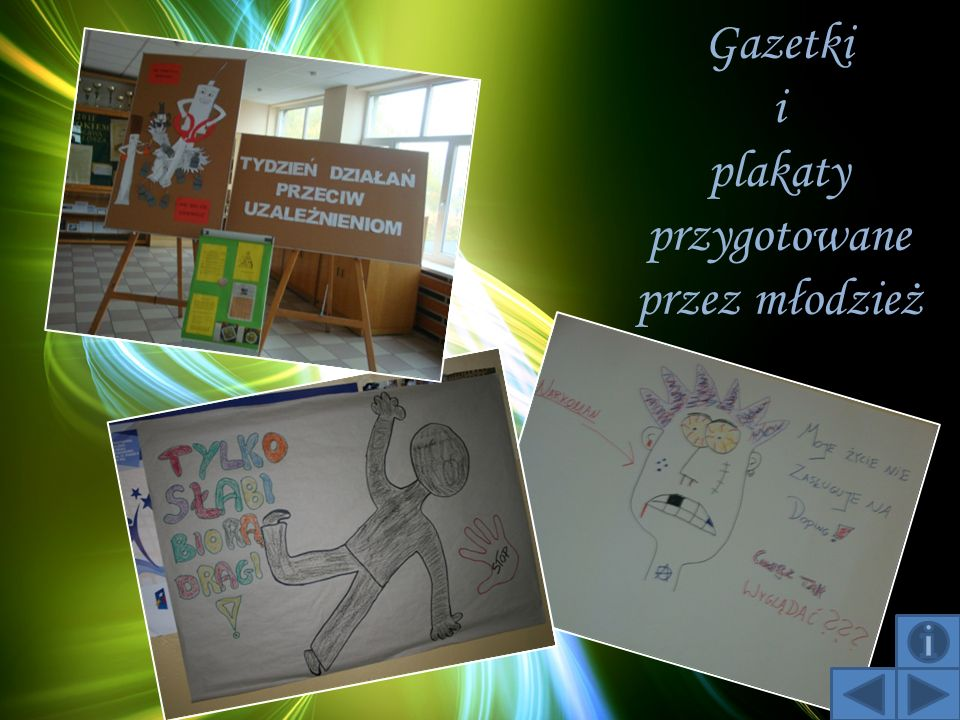 Gazetki i plakaty przygotowane przez młodzież
