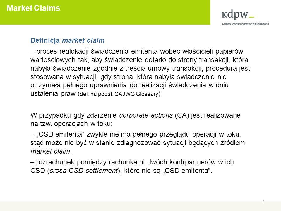 Monitorowanie implementacji T2S CASG Standards 18 T2S Advisory Group (AG): 23 września 2009: AG zaaprobowała standardy CASG 10 grudnia 2009: AG nadała CASG mandat w zakresie monitorowania implementacji standardów w CSDs przystępujących do T2S Adresaci minitoringu: - Zasadniczo CDSs przystępujące do T2S - CSDs będą musiały dostosować do T2S przetwarzanie CA związanych z przekazywaniem środków pieniężnych - Najlepiej, aby w proces implementacji zaangażowani byli, przynajmniej do konsultacji, uczestnicy CSDs, uczestnicy NUG i/lub MIG