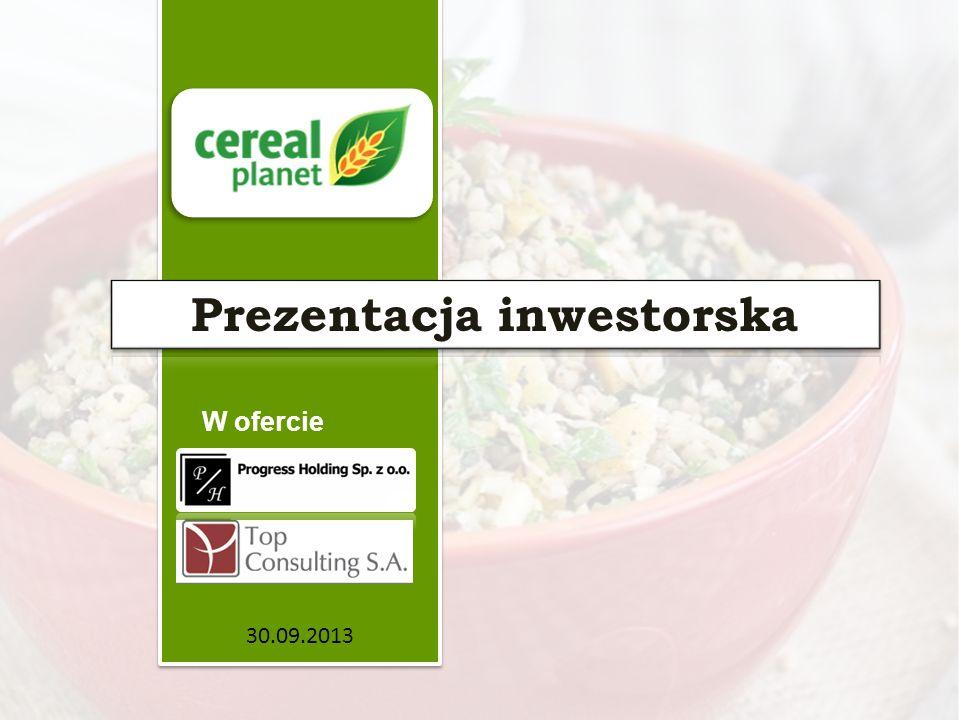 Opis Spółki Średnie, dynamiczne przedsiębiorstwo przetwórstwa spożywczego, Lokalny lider produkcji kasz w ekonomicznej grupie cenowej.