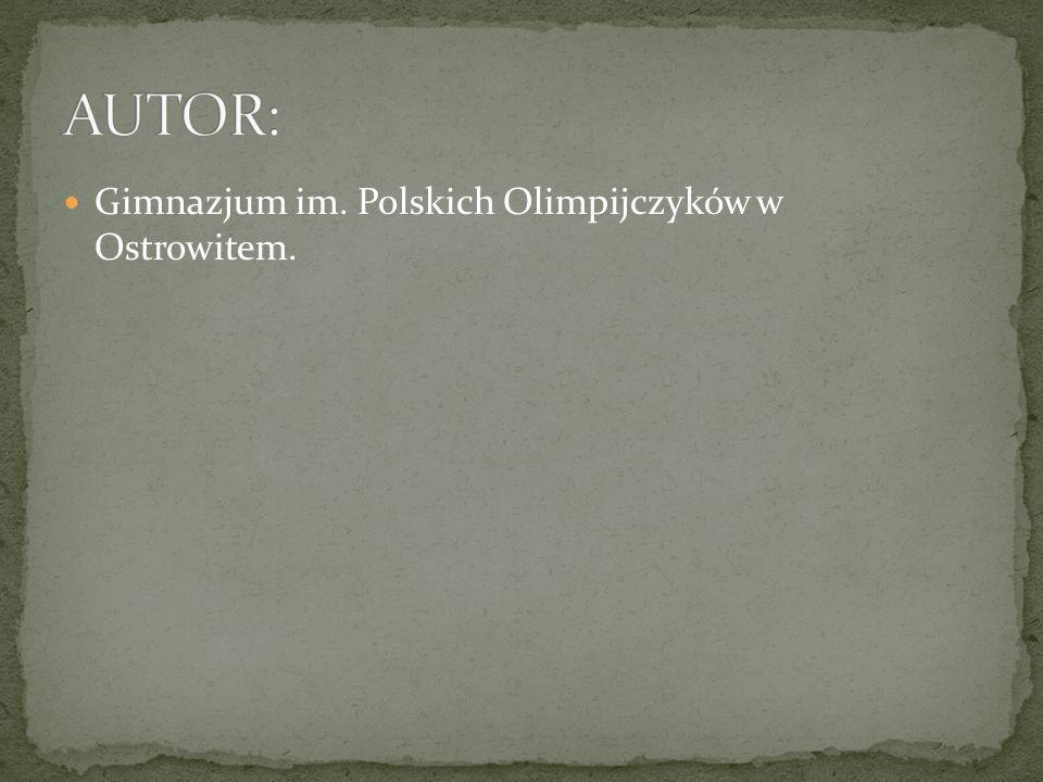 Gimnazjum im. Polskich Olimpijczyków w Ostrowitem.