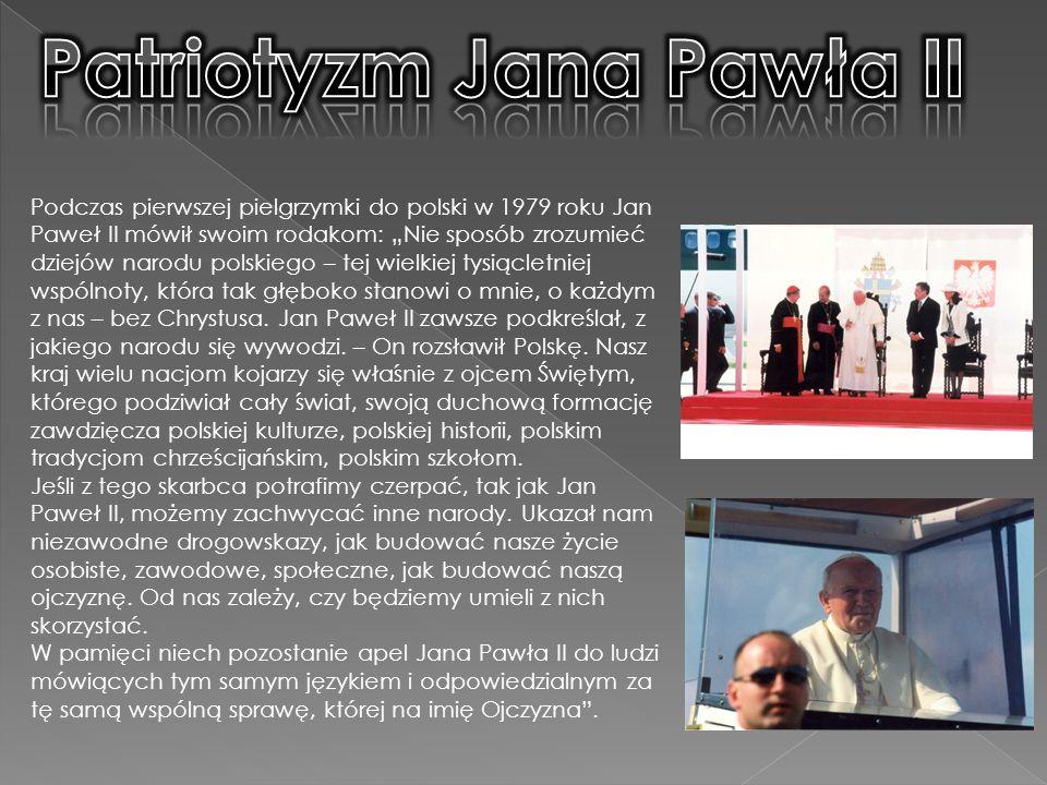 Podczas pierwszej pielgrzymki do polski w 1979 roku Jan Paweł II mówił swoim rodakom: Nie sposób zrozumieć dziejów narodu polskiego – tej wielkiej tysiącletniej wspólnoty, która tak głęboko stanowi o mnie, o każdym z nas – bez Chrystusa.