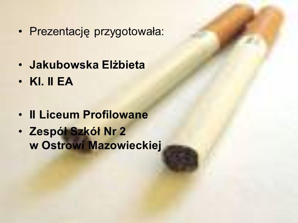 Prezentację przygotowała: Jakubowska Elżbieta Kl. II EA II Liceum Profilowane Zespół Szkół Nr 2 w Ostrowi Mazowieckiej