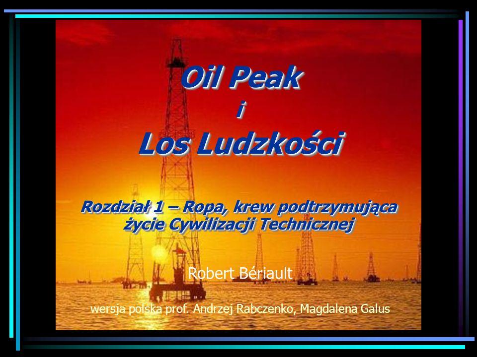 Oil Peak i Los Ludzkości Rozdział 1 – Ropa, krew podtrzymująca życie Cywilizacji Technicznej Oil Peak i Los Ludzkości Rozdział 1 – Ropa, krew podtrzym