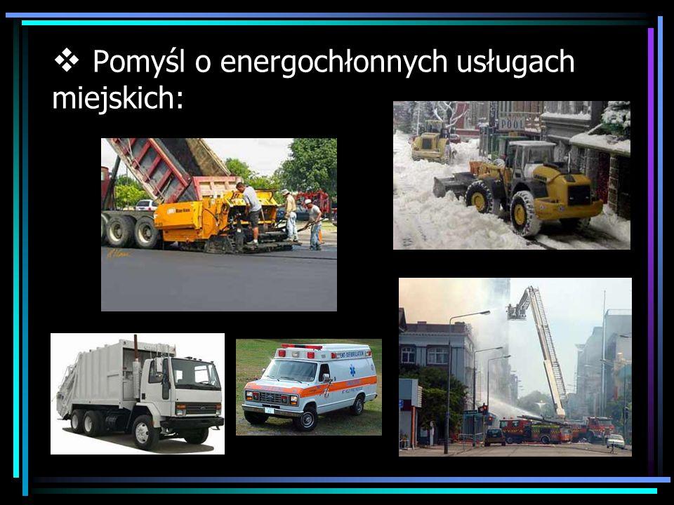 Pomyśl o energochłonnych usługach miejskich: