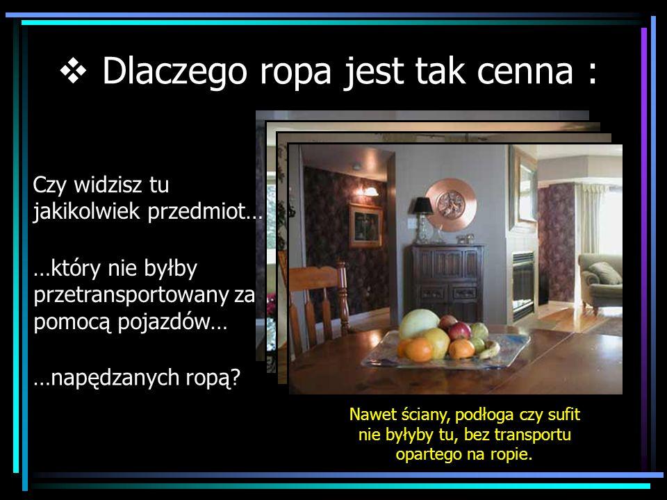 Jeśli zastanawiasz się, kiedy ropa i związane z nią bogactwo, się skończy, przejdź do Rozdziału 2 Strona wyboru rozdziałów www.ZiemiaNaRozdrozu.pl
