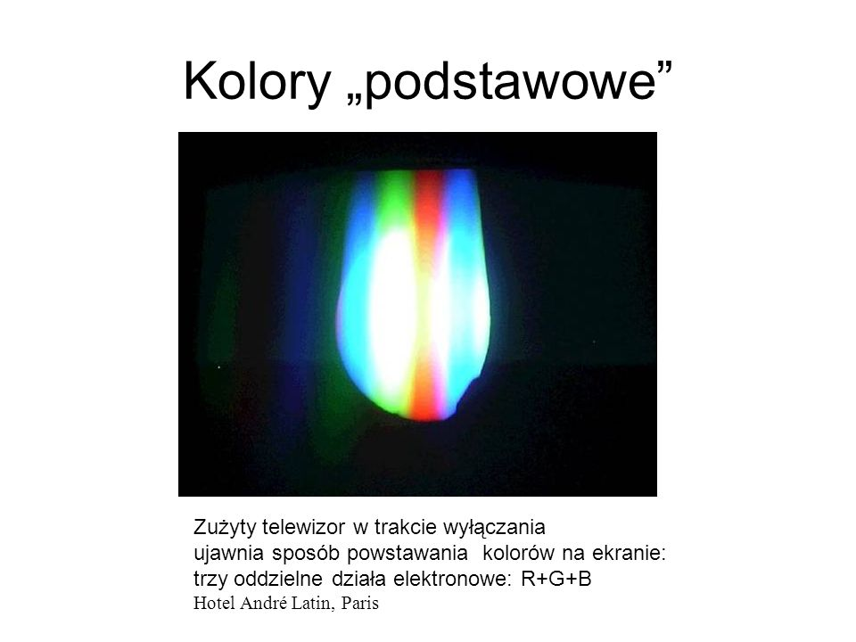 Skąd się biorą kolory? Dwa obrazy światła rozszczepionego* na płycie CD: lampa energo-oszczędna i światło wschodzącego Słońca *a właściwie: światła, k