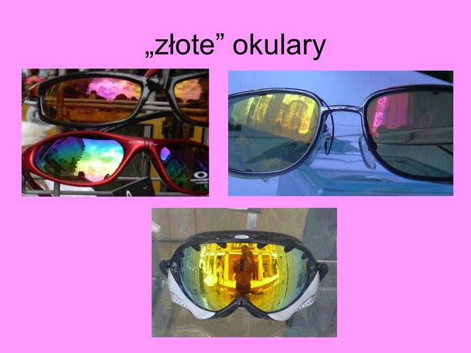 kolorowe okulary, ale… Widma transmisji w zakresie widzialnym: wspólna część to tylko czerwień (700 nm)!