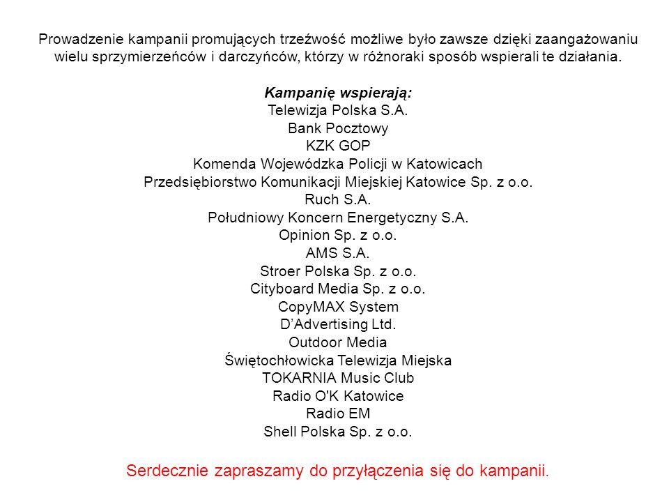 Od 1999 roku Duszpasterstwo Trzeźwości Archidiecezji Katowickiej przy współudziale Agencji Reklamowej Business Consulting w Katowicach organizuje reklamowe kampanie społeczne promujące trzeźwość.