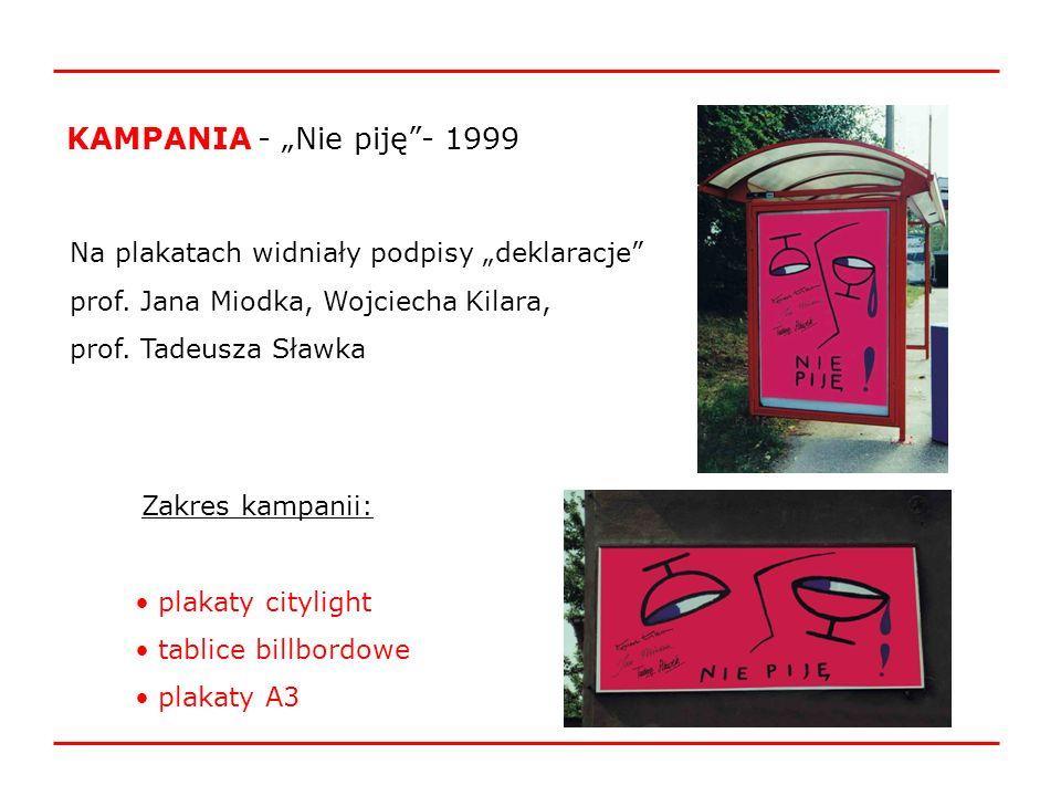 KAMPANIA -,,Myślę, więc nie piję!- 2000 Grand Prix – Biennale Plakatu Polskiego w Katowicach
