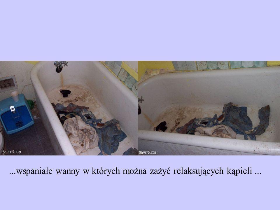 ...wspaniałe wanny w których można zażyć relaksujących kąpieli...