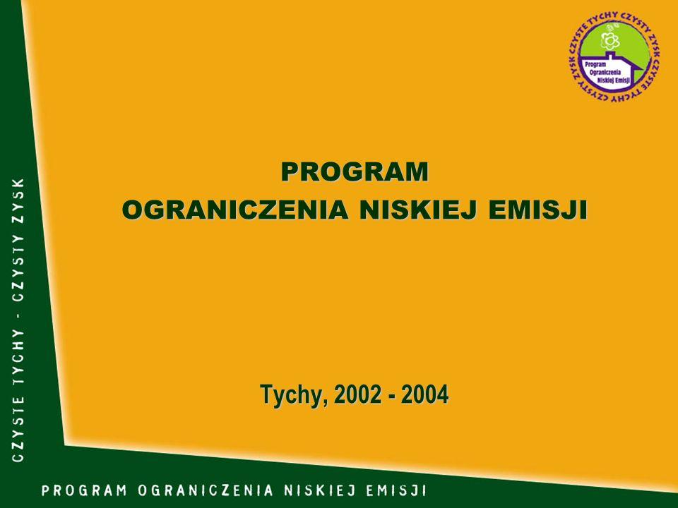 PROGRAM OGRANICZENIA NISKIEJ EMISJI Tychy, 2002 - 2004