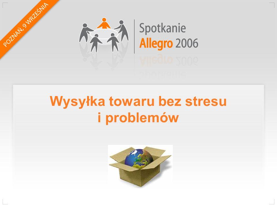 O mnie Tomasz Henel Konto allegro: PaLF Sklep internetowy: punkt44.pl Średnio 120 przesyłek dziennie