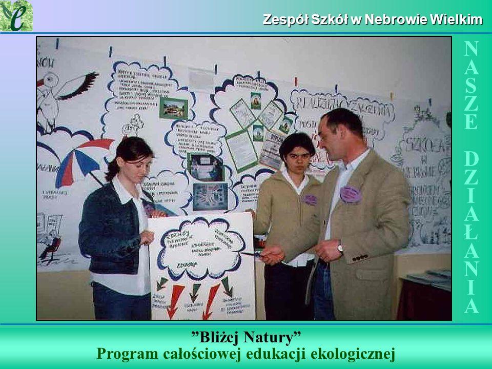 Wybrane działania w ramach zdobywania Zielonego Certyfikatu Zespół Szkół w Nebrowie Wielkim Bliżej Natury Program całościowej edukacji ekologicznej NA
