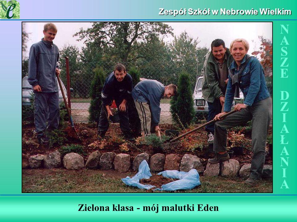 Zespół Szkół w Nebrowie Wielkim Zielona klasa - mój malutki Eden NASZE DZIAŁANIANASZE DZIAŁANIA