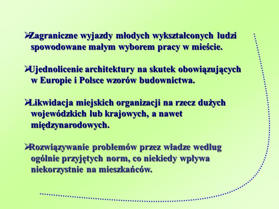 Podsumowanie Globalizacja ma pozytywny, ale i negatywny wpływ na miasto Kwidzyn.