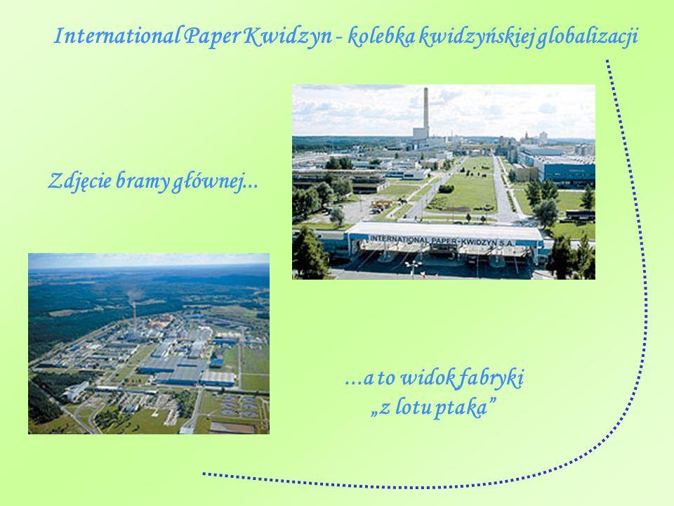 International Paper Kwidzyn - kolebka kwidzyńskiej globalizacji Zdjęcie bramy głównej......a to widok fabryki z lotu ptaka