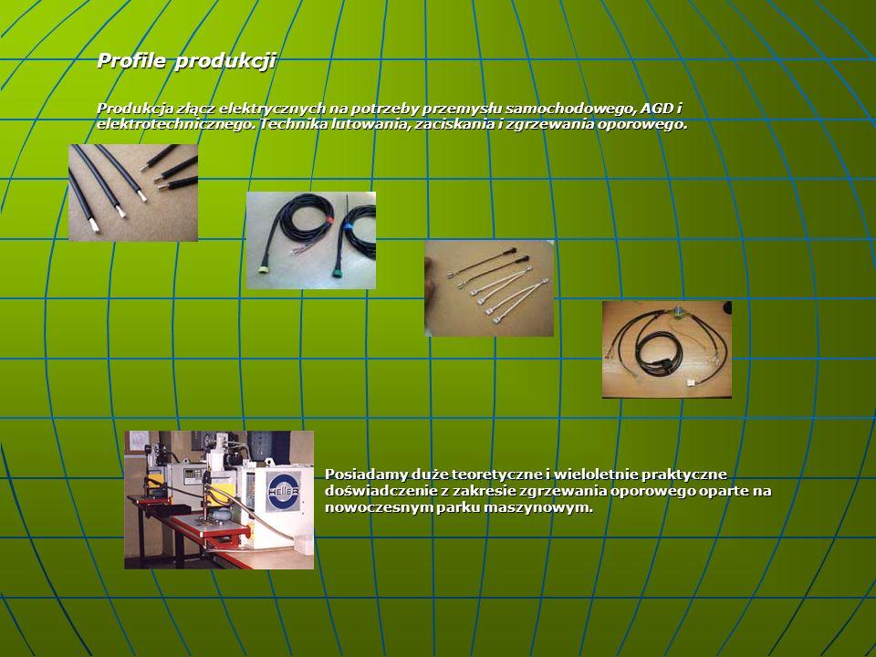 Wiązki kablowe Zaawansowana technicznie obróbka kabli i przewodów elektrycznych z materiałów powierzonych lub własnych, pochodzą bez wyjątku od tak znanych dostawców jak np.