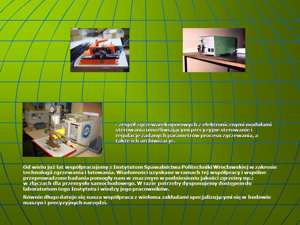 Od wielu już lat współpracujemy z Instytutem Spawalnictwa Politechniki Wrocławskiej w zakresie technologii zgrzewania i lutowania. Wiadomości uzyskane