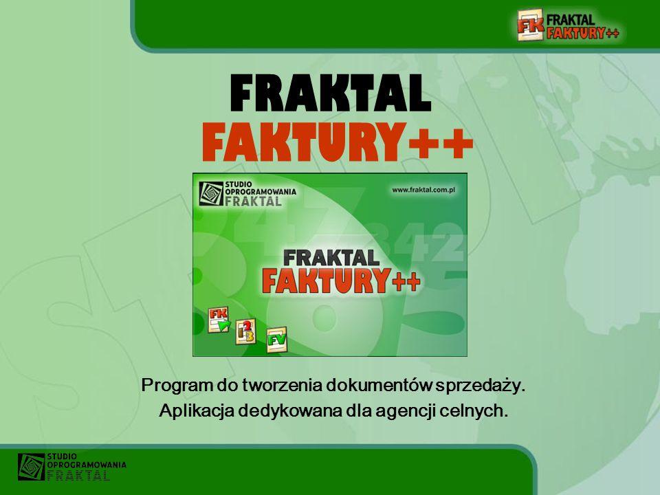 FRAKTAL Program do tworzenia dokumentów sprzedaży.