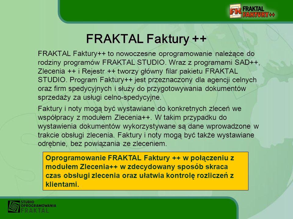 FRAKTAL Faktury ++ to nowoczesne oprogramowanie należące do rodziny programów FRAKTAL STUDIO.