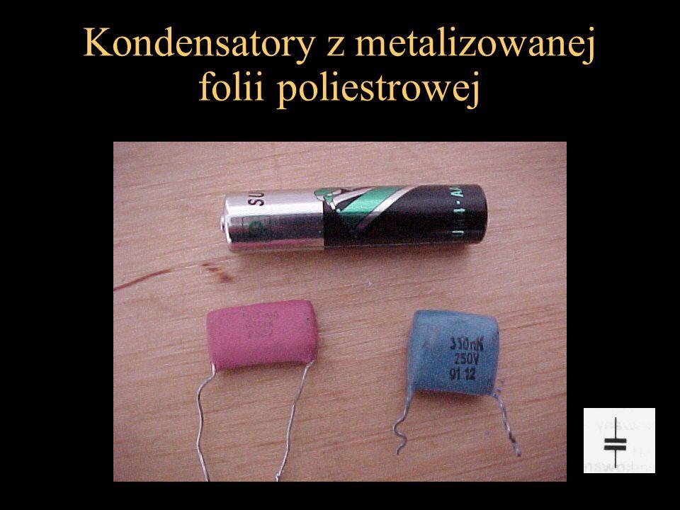 Kondensatory z metalizowanej folii poliestrowej