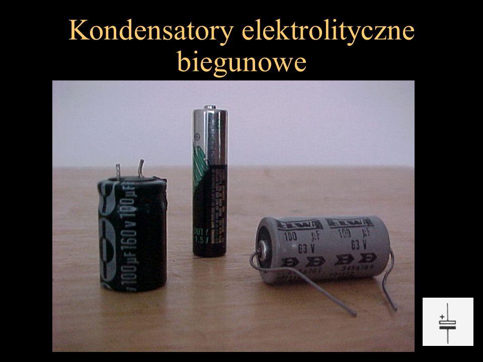 Kondensatory elektrolityczne biegunowe