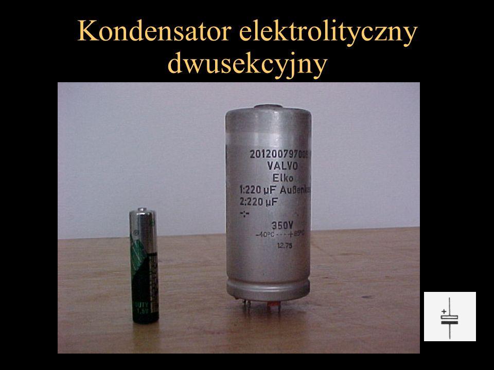 Kondensator elektrolityczny dwusekcyjny