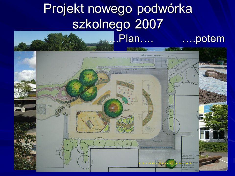 Projekt nowego podwórka szkolnego 2007 Vorher… ….potem ….Plan….
