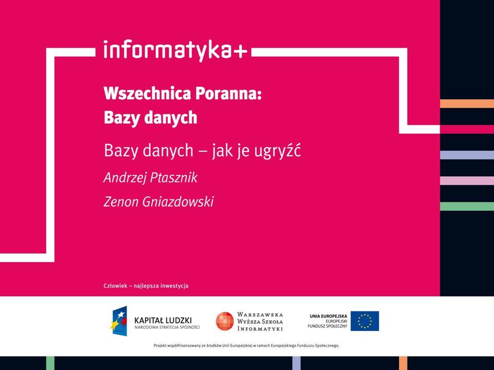 Przykładowy projekt bazy danych informatyka +32 Schemat bazy danych do rejestrowania ocen uczniów