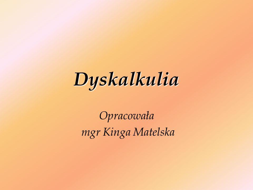 Definicję dyskalkulii rozwojowej opracował słowacki neuropsycholog Ladislav Košč, który prowadził badania dotyczące trudności w uczeniu się matematyki.