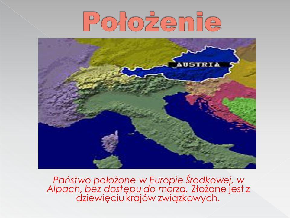 Państwo położone w Europie Środkowej, w Alpach, bez dostępu do morza.