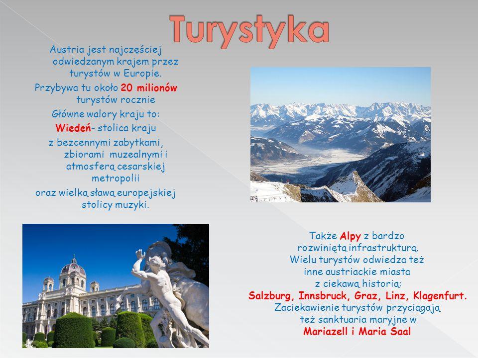 Austria jest najczęściej odwiedzanym krajem przez turystów w Europie.