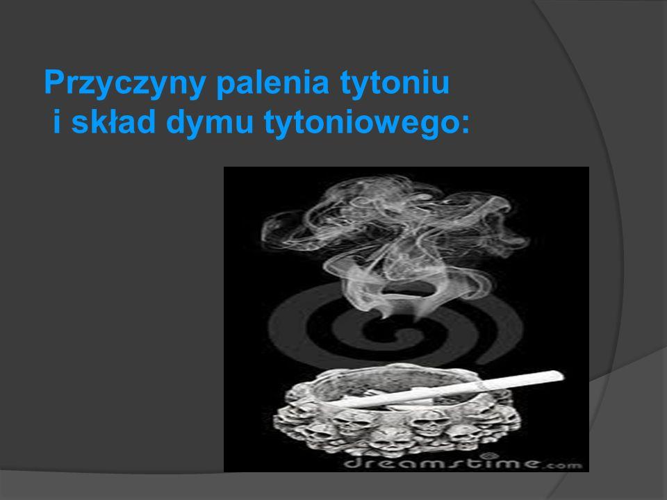 Przyczyny palenia tytoniu i skład dymu tytoniowego: