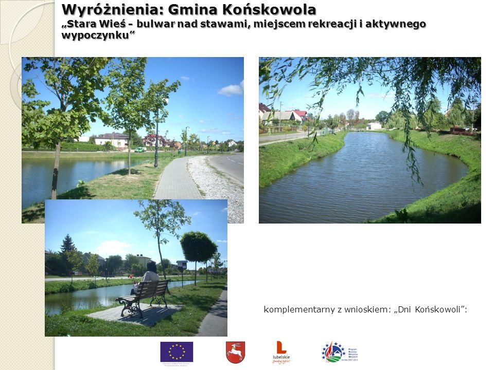 III miejsce (ex aequo) – Gmina Kraśnik Przebudowa stadionu i budowa obiektów sportowych w miejscowości Stróża Kolonia wraz z infrastruktura towarzyszą