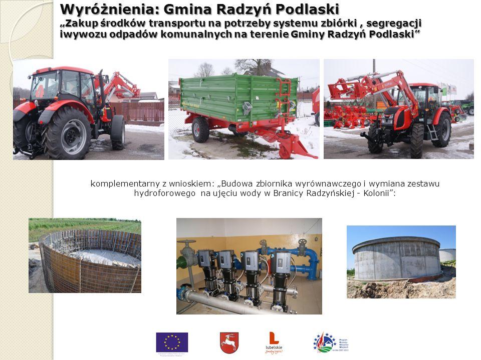 Wyróżnienia: Gmina Modliborzyce Przebudowa budynku OSP na potrzeby Centrum Kultury w Wierzchowiskach Pierwszych Wyróżnienia: Gmina Modliborzyce Przebu
