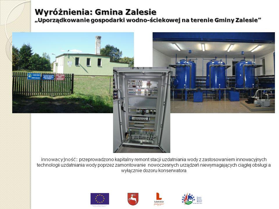 Wyróżnienia: Gmina Radzyń Podlaski Zakup środków transportu na potrzeby systemu zbiórki, segregacji iwywozu odpadów komunalnych na terenie Gminy Radzy