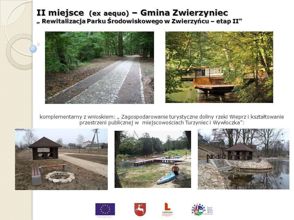 II miejsce (ex aequo) – Gmina Werbkowice Remont i rozbudowa stadionu sportowego w Werbkowicach komplementarny z wnioskiem: Przebudowa amfiteatru i wid