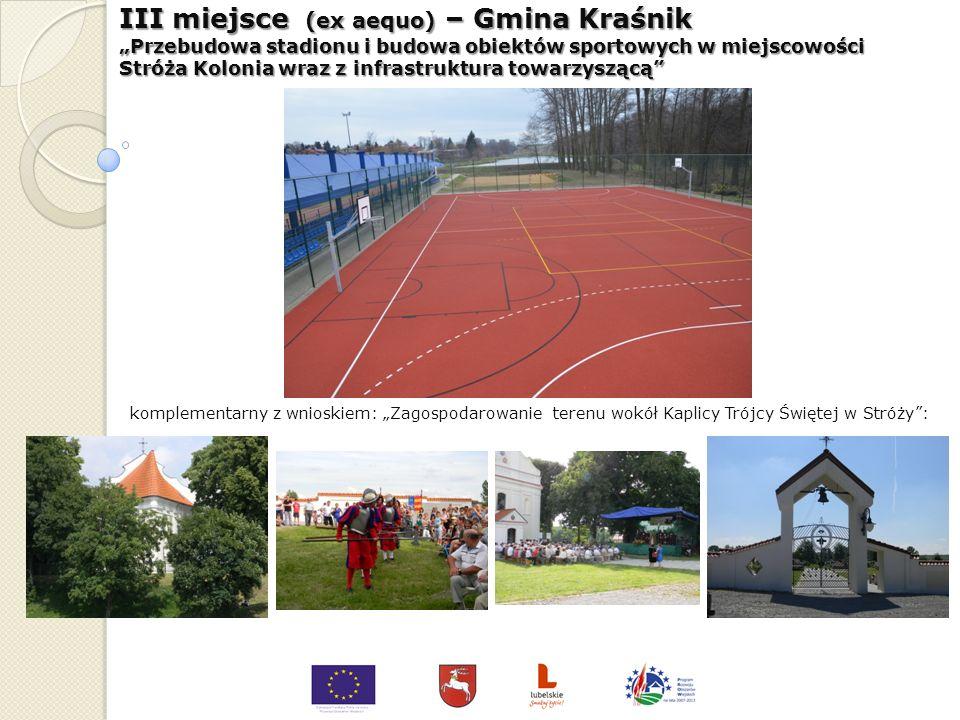 III miejsce (ex aequo) – Gmina Chełm Centrum Kulturalno-Sportowe Gminy Chełm w Rożdżałowie - przebudowa obiektu świetlicy wiejskiej komplementarny z w