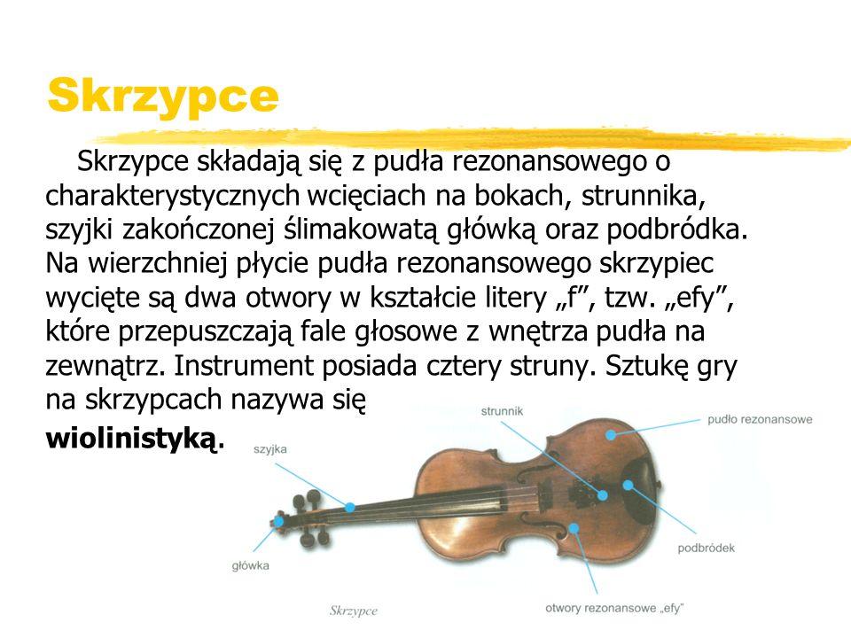 Skrzypce dzięki swej aksamitnej, czystej barwie stały się ulubionym instrumentem wielu kompozytorów.