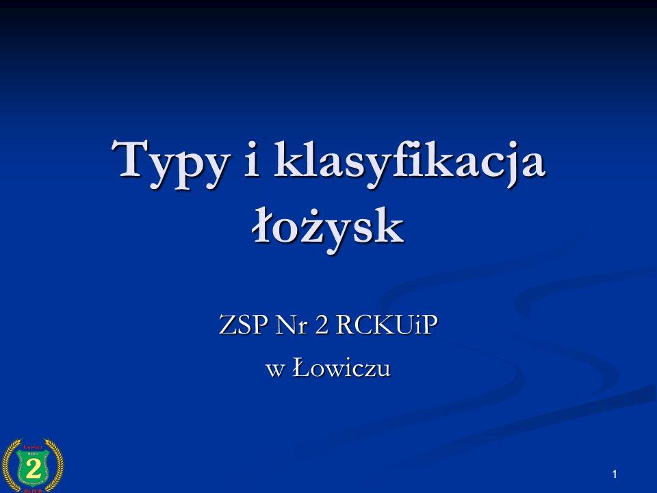 1 Typy i klasyfikacja łożysk ZSP Nr 2 RCKUiP w Łowiczu