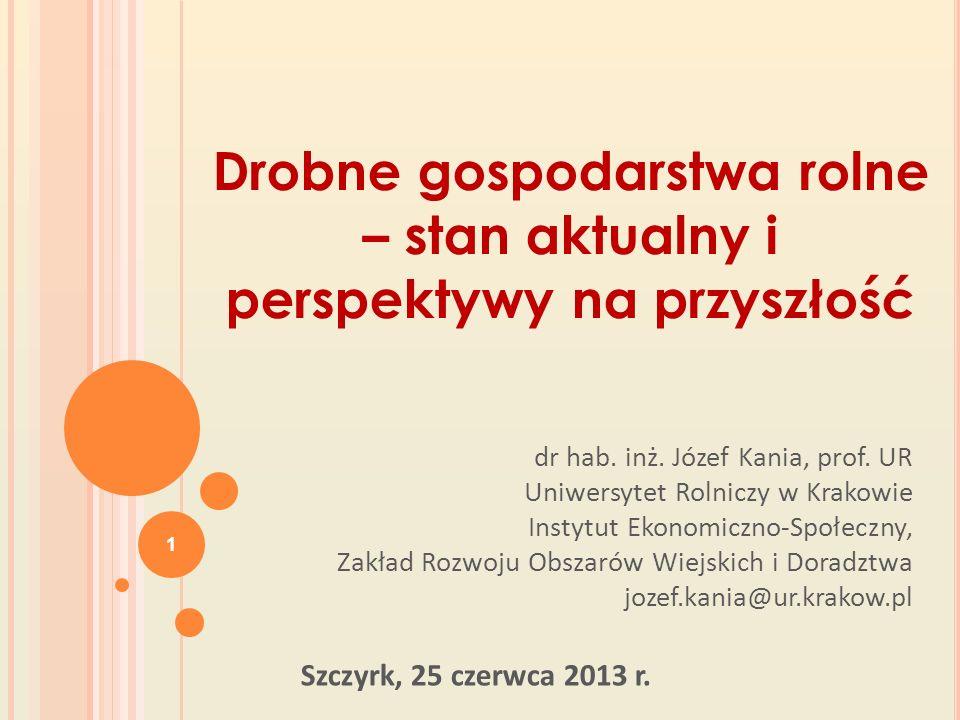 Definicja gospodarstwa drobnego W Polsce do określenia, które gospodarstwa zaliczamy do drobnych wykorzystuje się jego powierzchnię.