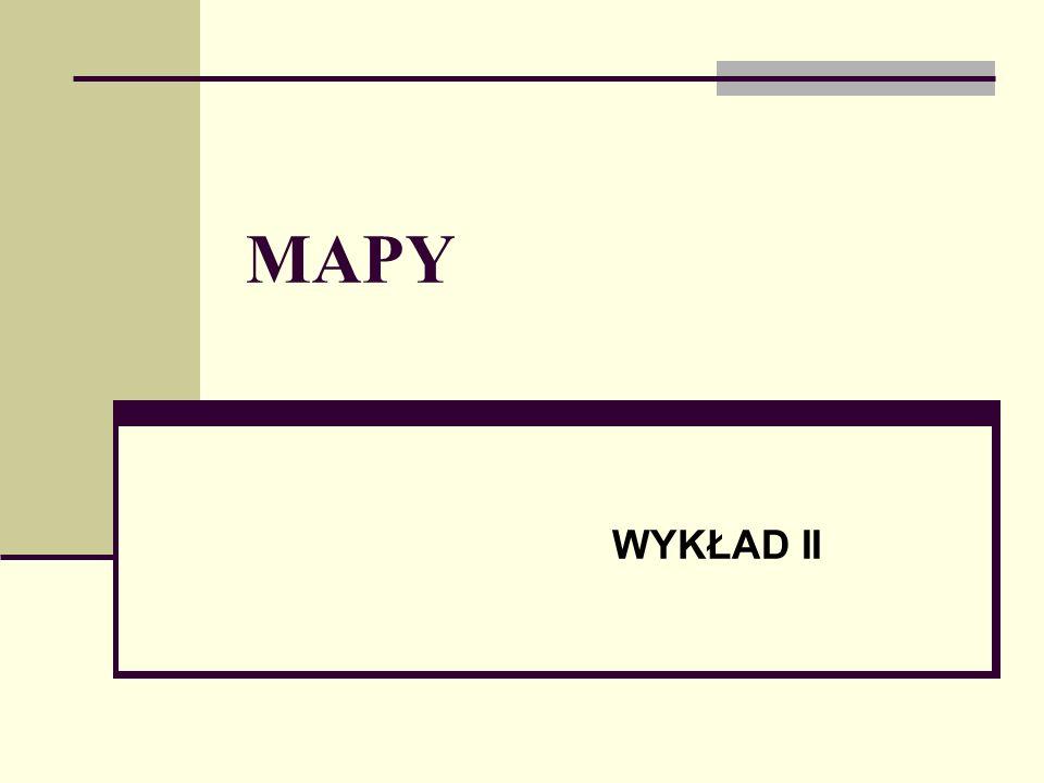MAPY Mapa jest to obraz fizycznej powierzchni ziemi na płaszczyźnie w przyjętym odwzorowaniu kartograficznym i założonej skali z symbolicznym przedstawieniem obiektów i ukształtowania.