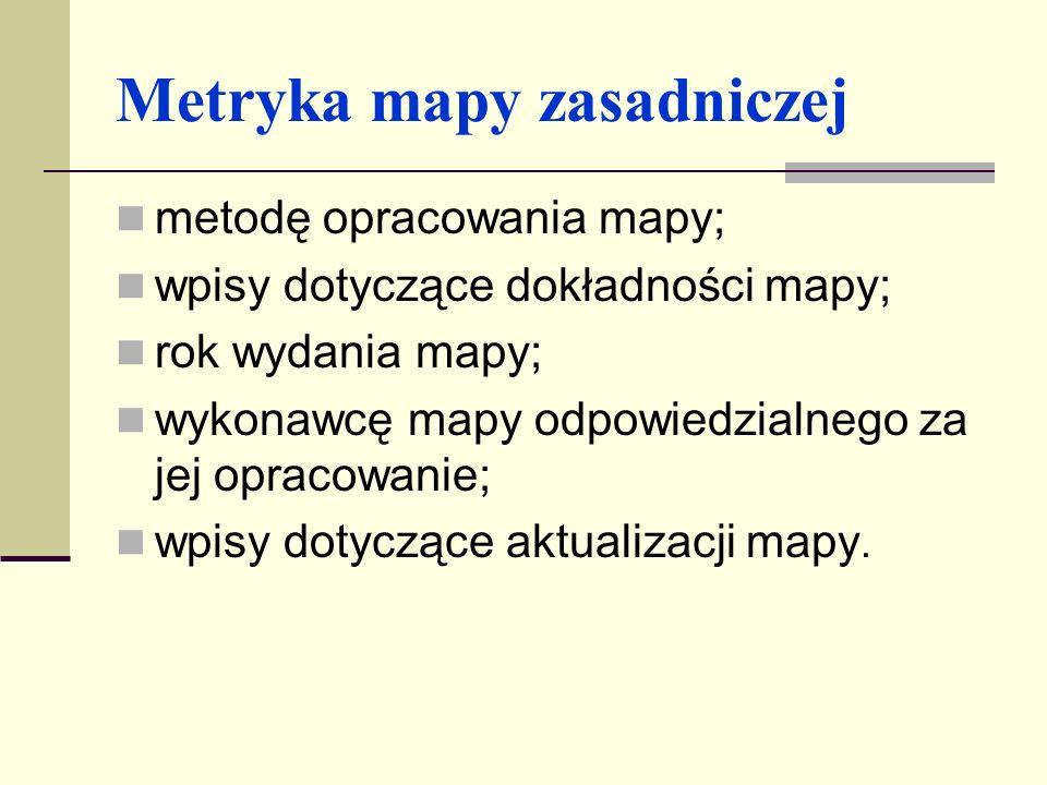 Forma mapy zasadniczej Mapa zasadnicza wykonywana jest w formie numerycznej lub klasycznej.