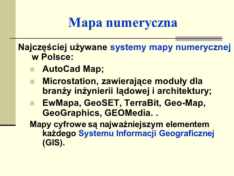 Mapa numeryczna wektorowa w systemie AutoCad