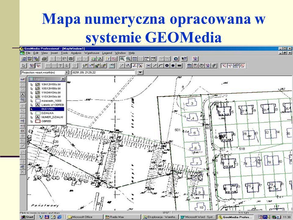 Metody opracowania mapy numerycznej Mapy numeryczne powstają: 1.