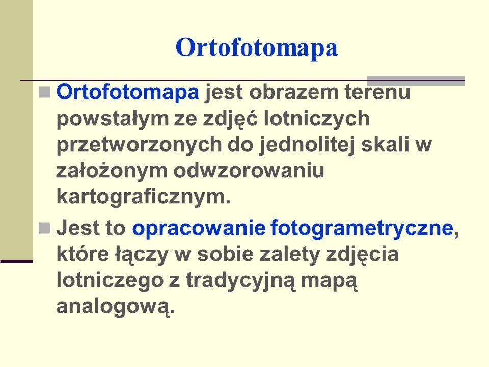 Ortofotomapa Ortofotomapa stanowi idealny materiał badawczy przydatny do oceny stanu środowiska przyrodniczego, bazę informacyjną dla planistów, geodetów, sozologów i administracji publicznej.