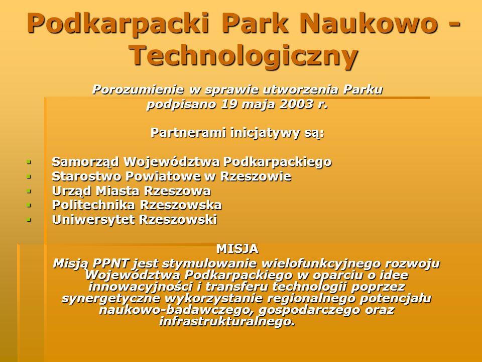 Porozumienie w sprawie utworzenia Parku podpisano 19 maja 2003 r. Partnerami inicjatywy są: Samorząd Województwa Podkarpackiego Samorząd Województwa P