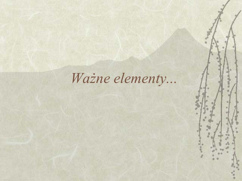 Ważne elementy...