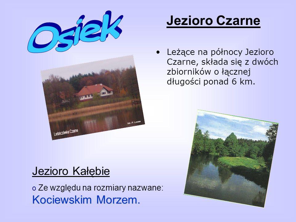 Jezioro Czarne Leżące na północy Jezioro Czarne, składa się z dwóch zbiorników o łącznej długości ponad 6 km.