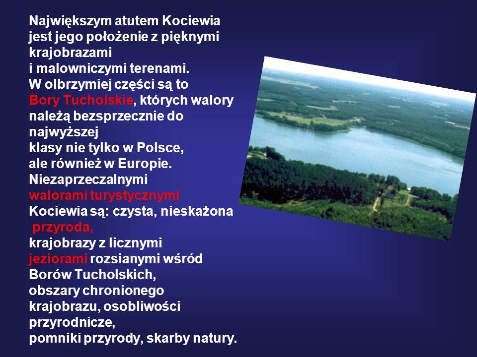 Największym atutem Kociewia jest jego położenie z pięknymi krajobrazami i malowniczymi terenami.